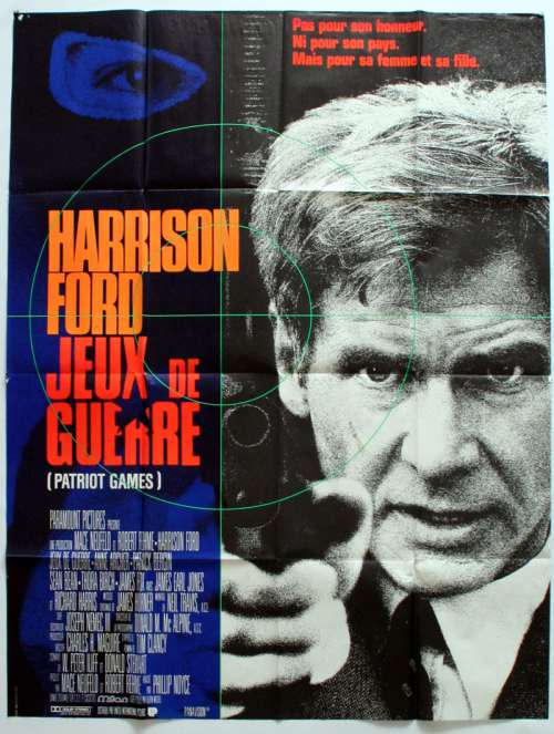 47 X 63 Movie Poster From Patriot Games 1992